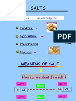 8.1 (a) Meaning of Salt