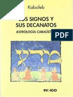 (Kabaleb) - Los signos y sus decanatos (astrologia cabalistica)