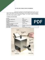 10 Oz Gold Furnace Instruction Manual
