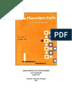 JNANA MARGA NO CRISTIANISMO - The Mountain Path - Joel Goldsmith
