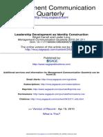 Leadership Development as Identity Construction Management Communication Quarterly-2010-Carroll-211-31