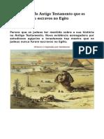 A fabricação do Antigo Testamento que os israelitas eram escravos no Egito.pdf