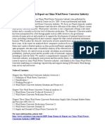 2009 Deep Research Report on China Wind Power Converter Industry