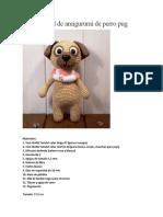 Tutorial de amigurumi de perro pug
