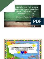 mensajes de educación inicial
