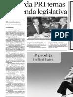 19.08.2006 Acuerda PRI temas de agenda legislativa