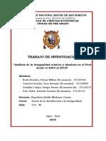 """Análisis de la Desigualdad Relativa y Absoluta en el Perú desde el 2004 al 2018"""""""
