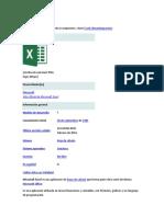 Microsoft Excel trabajo