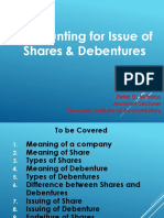 Topic 1 - Accounting for Issue of Shares and Debentures