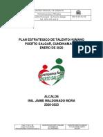 Plan Estrategico de Talento Humano, Puerto Salgar, Año 2020.