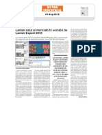 Lantek saca al mercado la versión de Lantek Expert 2010