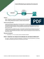 Práctica de laboratorio tramas ethernet - Cisco