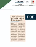 Lantek diversifica su oferta hacia el sector de la construcción