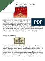 MEMBRESIA EN LOGIAS   DE LA LECCION  27 Y 28  LOGIAS Y VOCABULARIO PROPIO