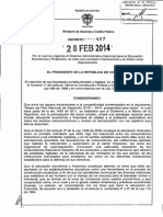 DECRETO 457 DEL 28 DE FEBRERO DE 2014
