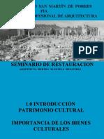 1.  PATRIMONIO CULTURAL.