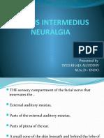 Nervus Intermedius Neuralgia