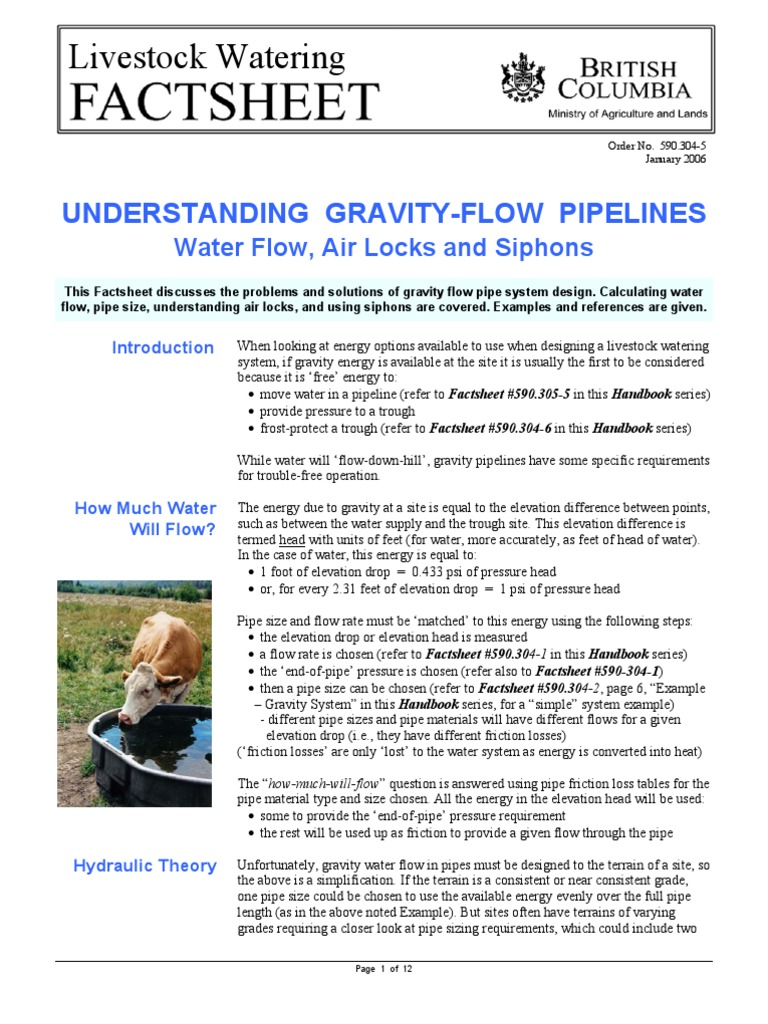 Flow under gravity pipe fluid conveyance pressure nvjuhfo Image collections