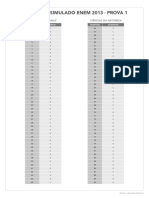Gabarito do Simulado ENEM - 1.pdf