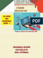2DA SESION  CÁLCULO III - Sistemas  OK