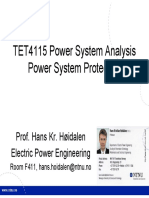 Power System Protection in TET4115
