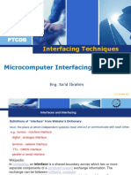 Lecture 01 Microcomputer Interfacing