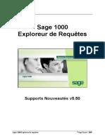 Sage 1000 - Exploreur de Requêtes - Nouveautés v5.5