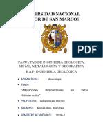 ALTERACIONES HIDROTERMALES EN VETAS HIDROTERMALES-Mena Lobon