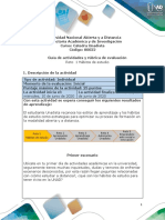 Guia de actividades y Rúbrica de evaluación - Reto 1 hábitos de estudio