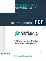 """""""Política Educativa en la Nación"""