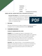 Contestación de demanda de indemnización