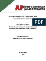 GARCIA RIVAS PABLO GABRIEL, PROYECTO DE TESIS