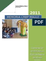 Memoria 2011 CRBP Maule