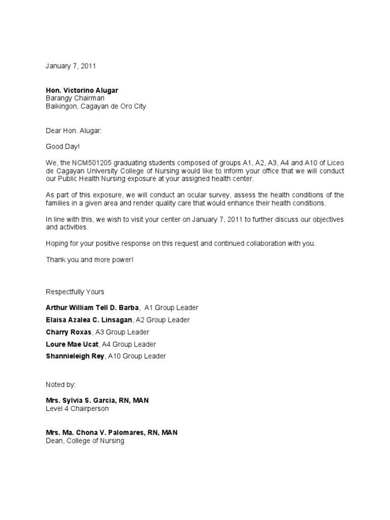 Courtesy Visit Sample Letter
