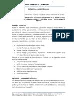 Especificaciones Tecnicas PARIÑA