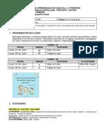 1° PROYECTO LECTOR - PAC SEGUNDO PERIODO- JUNIO 1