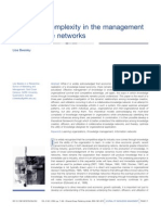 Multi-Level Complexity Inthe Management of Knowledge Networks
