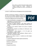 CAUSAS Y CONSECUENCIAS DE EMBARAZOS EN ADOSLECENTES
