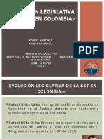 EVOLUCIONLEGISLATIVA DE LA SST EN COLOMBIA