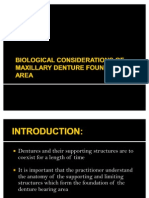Biological Considerations of Maxillary Denture Foundation Area
