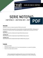 Soundcraft Notepad Series Quickstart Guide-ES