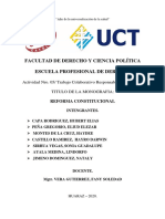 PROCESO DE REFPORMA CONSTITUCIONAL
