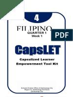 CAPSLET-FILIPINO subject