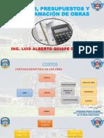 COSTOS Y PRESUPUESTOS SESIÓN 01 - ING. LUIS QUISPE