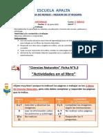 2° BASICO - CIENCIAS - 01 DE JUNIO