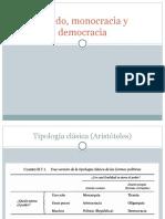 Estado, monocracia y democracia