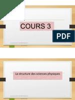 EDI 208-412  Cours 3 Structure des sciences PC