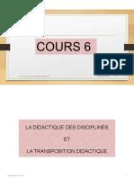 EDI 208-412  Cours 6 Transposition didactique