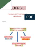 EDI 414 Cours 7  Théorie apprentissage-Béhaviorisme