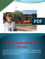 Kasus Malpraktek RS Siloam